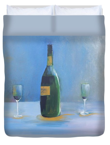 Champagne For Two Duvet Cover