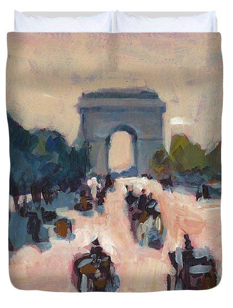 Champs Elysees Paris Duvet Cover