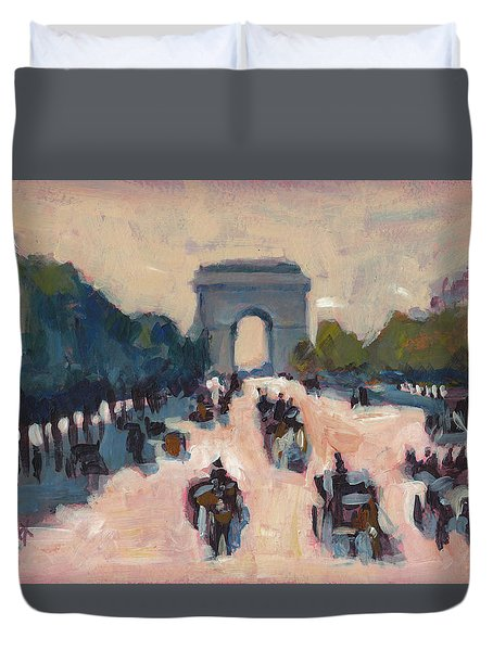 Champs Elysees Paris Duvet Cover
