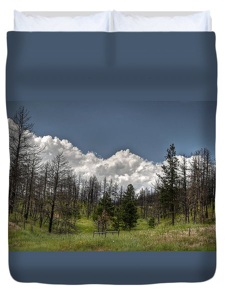Chance Of Clouds Duvet Cover by Deborah Klubertanz
