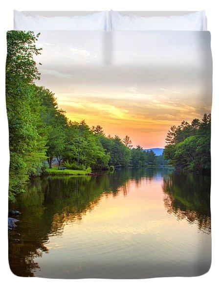 Chance Pond Brook Golden Hour  Duvet Cover