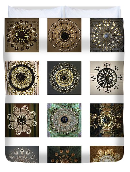 Collection Poster Chandeliers From Russia Duvet Cover