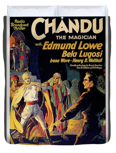 Chandu The Magician Duvet Cover by Movieworld Posters