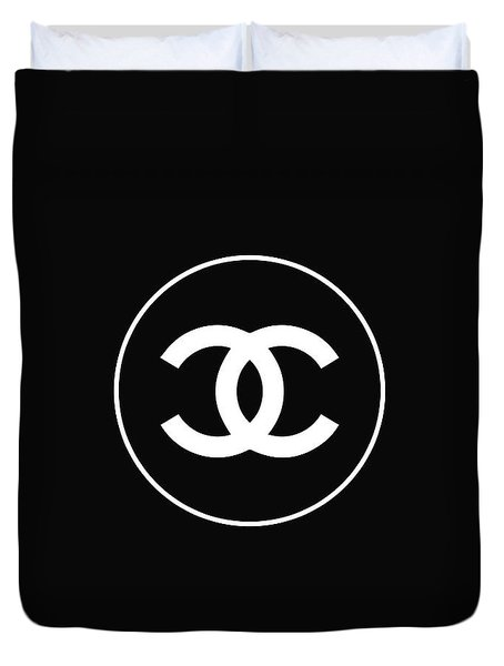 Chanel - Black And White 02 - Lifestyle And Fashion Duvet Cover