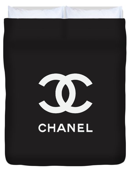 Chanel - Black And White 03 - Lifestyle And Fashion Duvet Cover