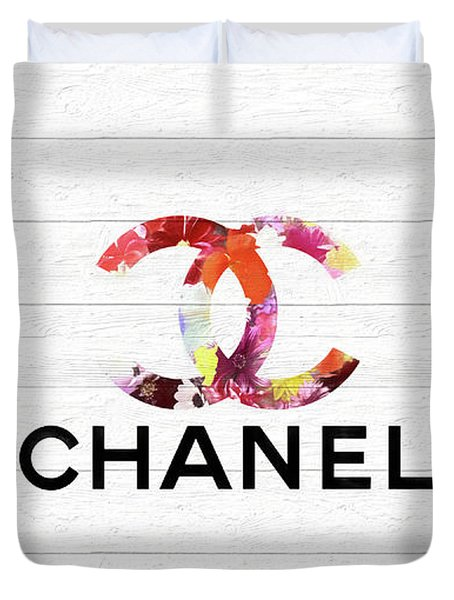 Chanel Floral On Wood Duvet Cover