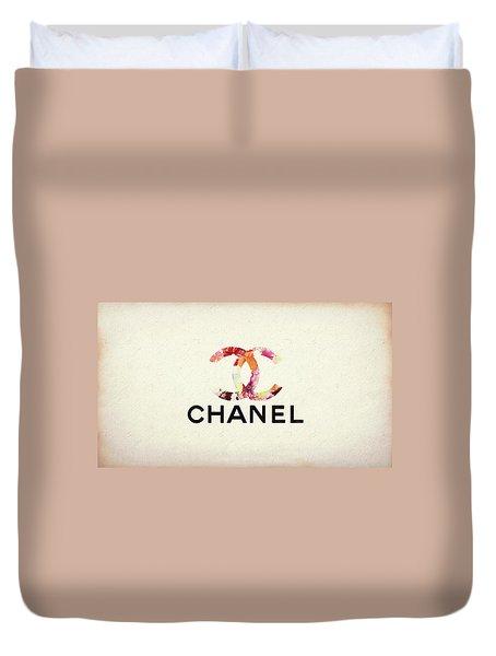 Chanel Floral Texture  Duvet Cover