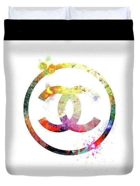 Chanel Logo Duvet Cover
