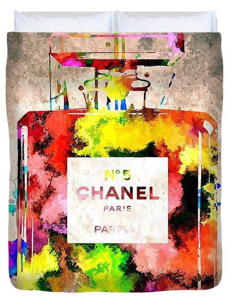 Chanel No 5 Grunge Duvet Cover