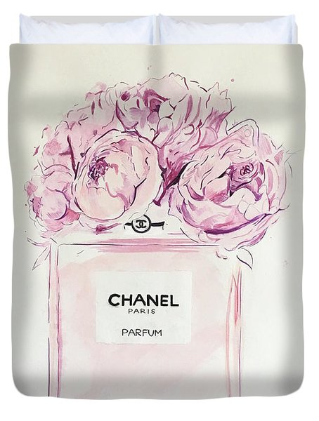 Chanel Peonies Duvet Cover