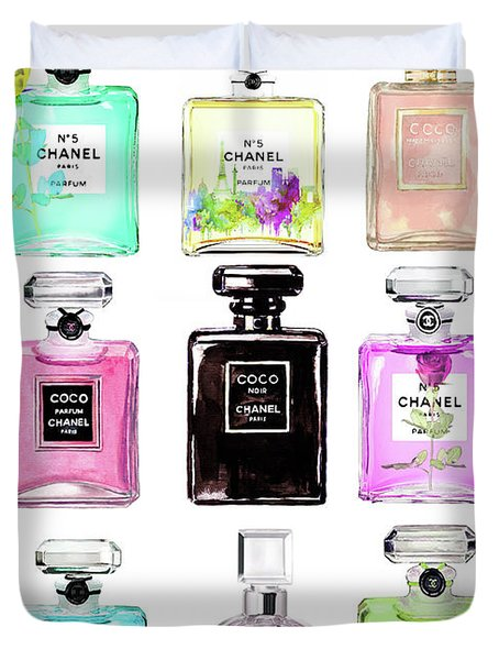 Chanel Perfume Set 9er Duvet Cover