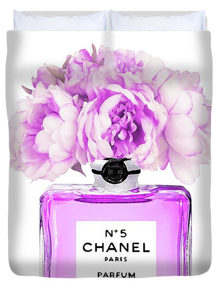Chanel Print Chanel Poster Chanel Peony Flower Duvet Cover