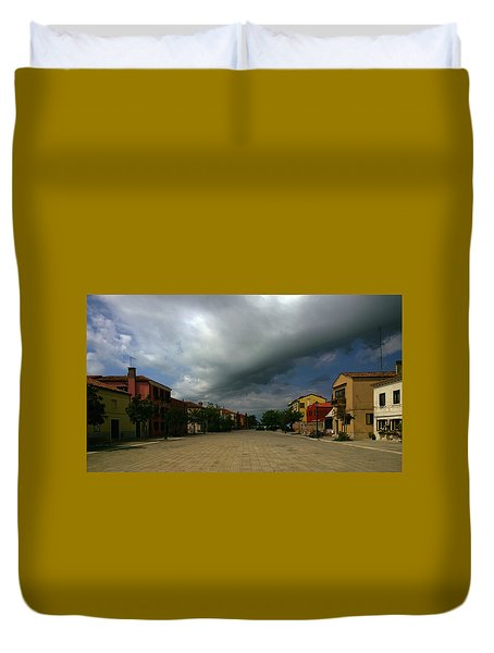 Duvet Cover featuring the photograph Change In The Weather by Anne Kotan