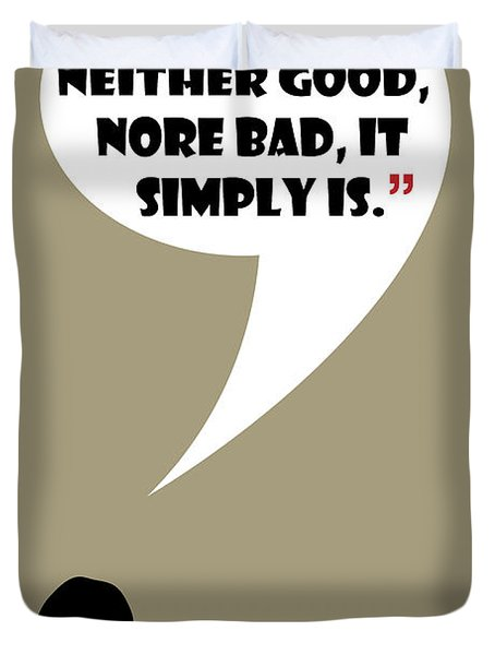 Change Is Not Bad - Mad Men Poster Don Draper Quote Duvet Cover