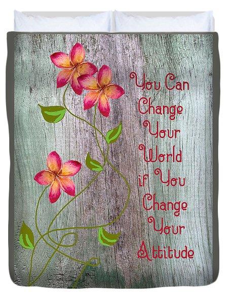 Change Your World Duvet Cover by Rosalie Scanlon