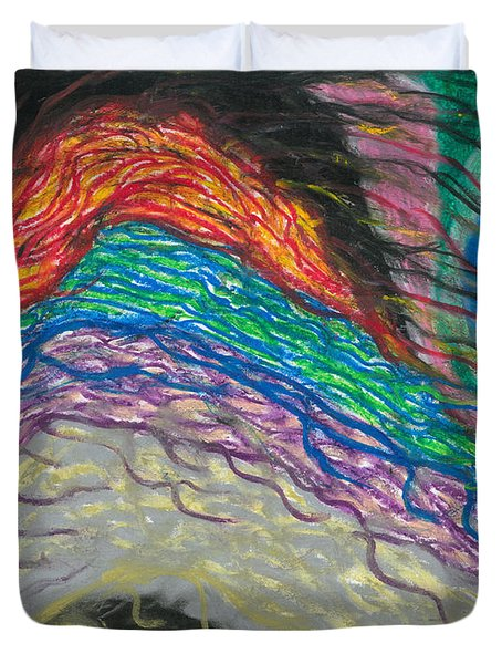 Duvet Cover featuring the painting Changes by Ania M Milo