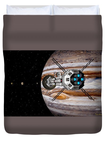 Duvet Cover featuring the digital art Changing Course by David Robinson