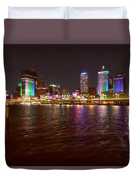Changing Lights - Brisbane Duvet Cover