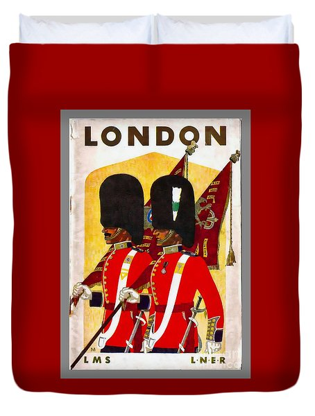 Changing The Guard London - 1937 Duvet Cover