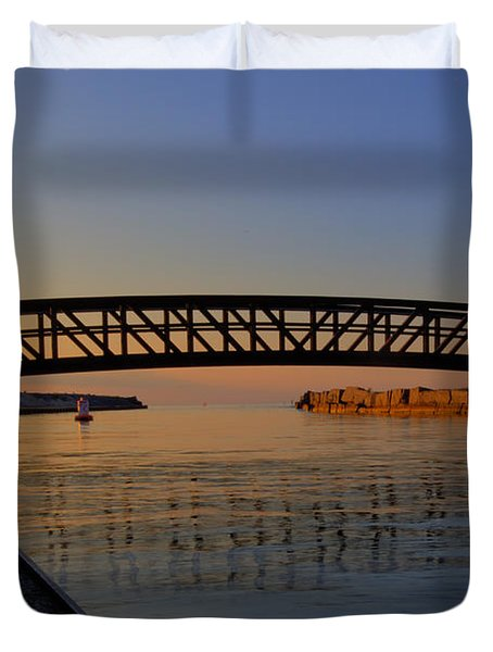 Channel Sunset Duvet Cover