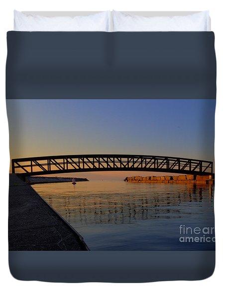 Channel Sunset Duvet Cover