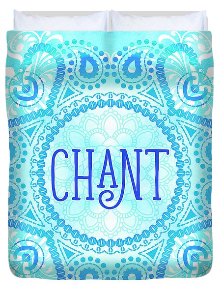 Duvet Cover featuring the digital art Chant by Tammy Wetzel