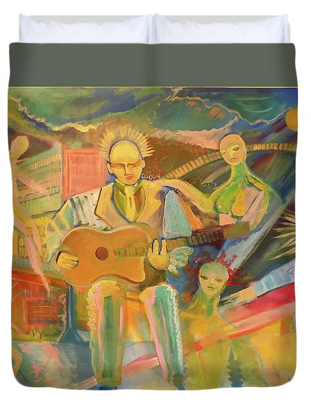 Chaos And Redemption Duvet Cover by John Keaton