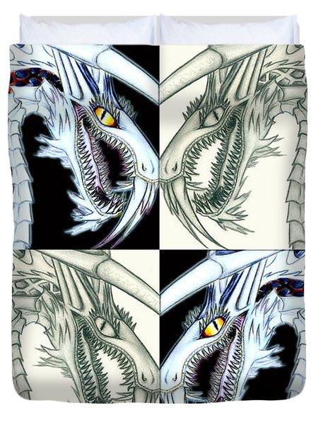 Chaos Dragon Fact Vs Fiction Duvet Cover