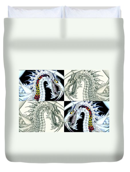 Chaos Dragon Fact Vs Fiction Duvet Cover