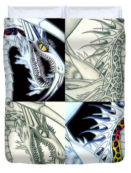 Chaos Dragon Fact W Fiction Duvet Cover