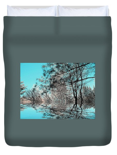 Duvet Cover featuring the photograph Chaos  by Elfriede Fulda