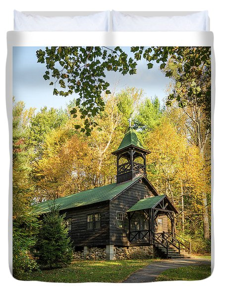 Chapel At Camp Penn Duvet Cover