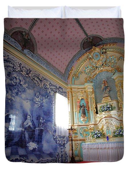 Chapel In Azores Islands Duvet Cover by Gaspar Avila