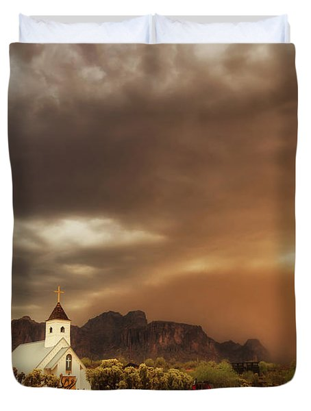 Chapel In The Storm Duvet Cover