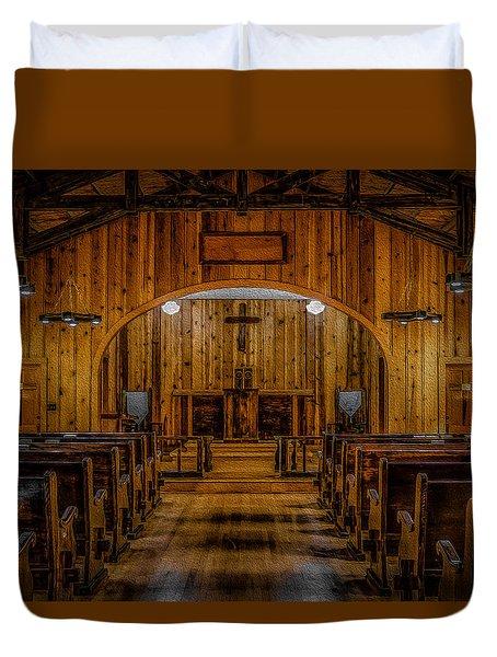 Chapel Inside Duvet Cover by Doug Long