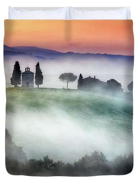 Chapel Of Our Lady Of Vitaleta Duvet Cover by Evgeni Dinev