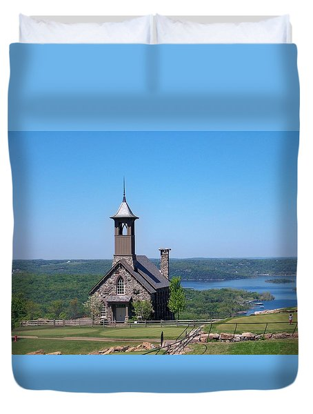 Chapel Of The Ozarks Duvet Cover by Julie Grace
