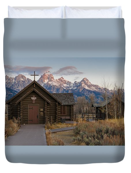 Chapel Of The Transfiguration - II Duvet Cover by Gary Lengyel