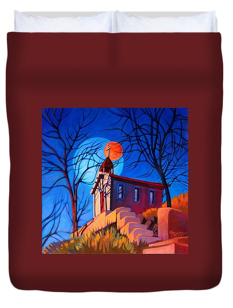 Chapel On The Hill Duvet Cover