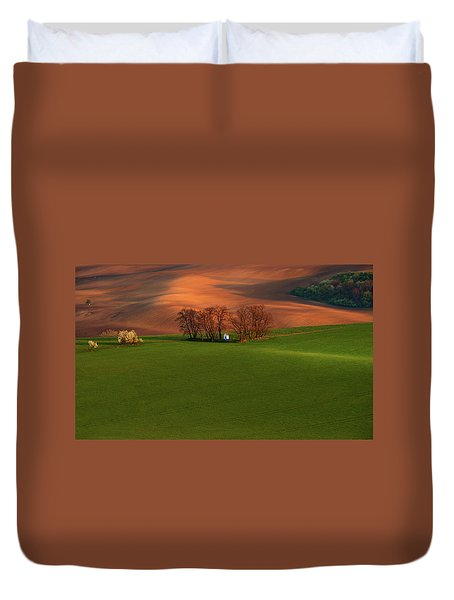 Duvet Cover featuring the photograph Chapel St Barbara. Moravia by Jenny Rainbow