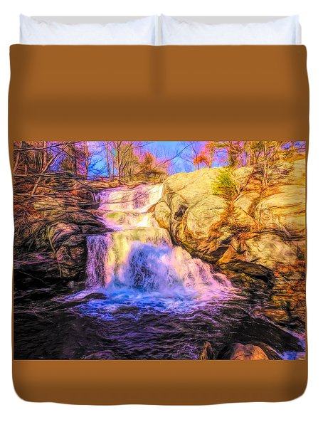 Chapman Falls Connecticut Duvet Cover