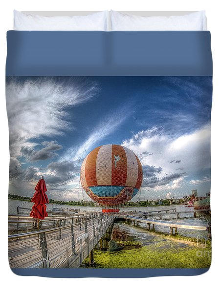 Characters In Flight Duvet Cover