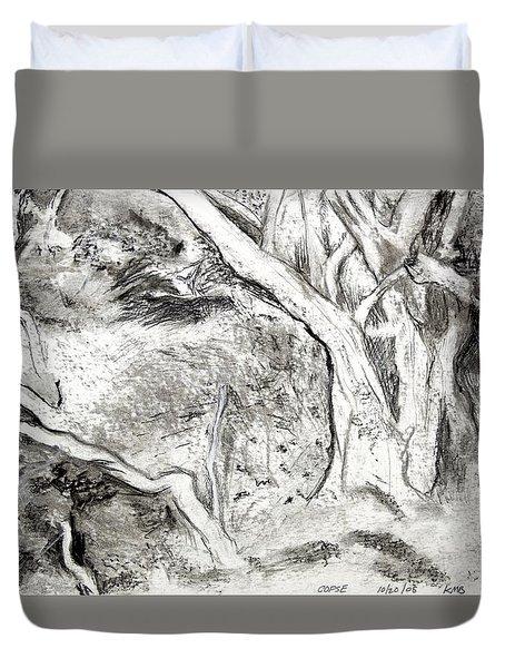 Charcoal Copse Duvet Cover