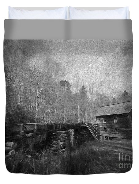 Charcoal Mill Duvet Cover