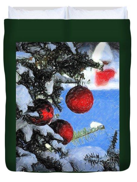 Charcoal Ornaments Duvet Cover