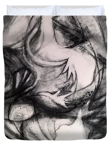Charcoal Study Duvet Cover