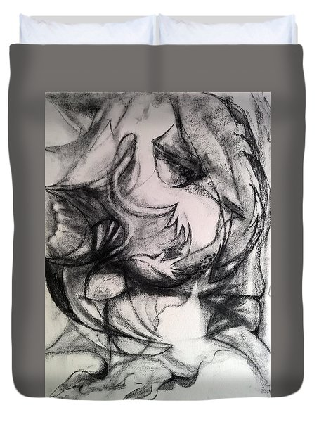 Charcoal Study Duvet Cover