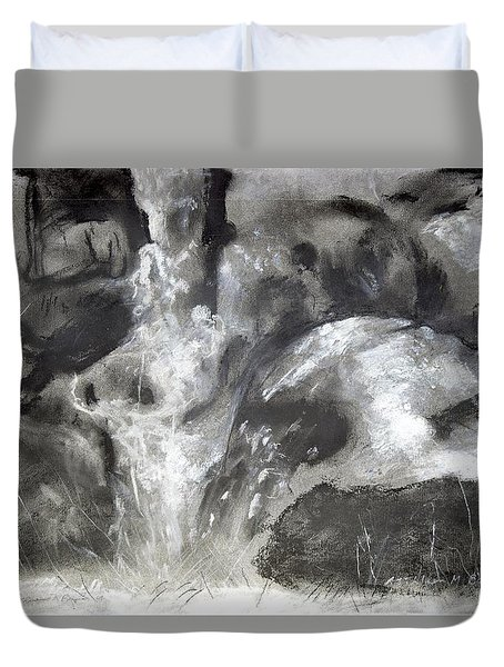Charcoal Waterfall Duvet Cover