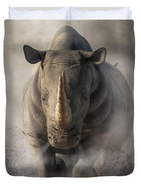 Charging Rhino Duvet Cover
