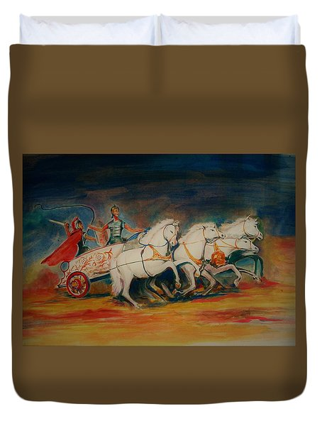 Chariot Duvet Cover by Khalid Saeed